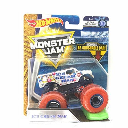 ホットウィール マテル ミニカー ホットウイール 【送料無料】Hot Wheels Monster Jam 2018 Clear Crushers Ice Cream Man (Includes Re-Crushable Car) 1:64 Scaleホットウィール マテル ミニカー ホットウイール
