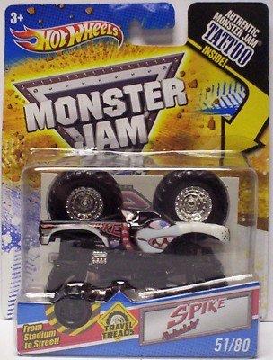 ホットウィール マテル ミニカー ホットウイール 【送料無料】Hot Wheels Monster Jam Travel Treads Spike #51/80ホットウィール マテル ミニカー ホットウイール