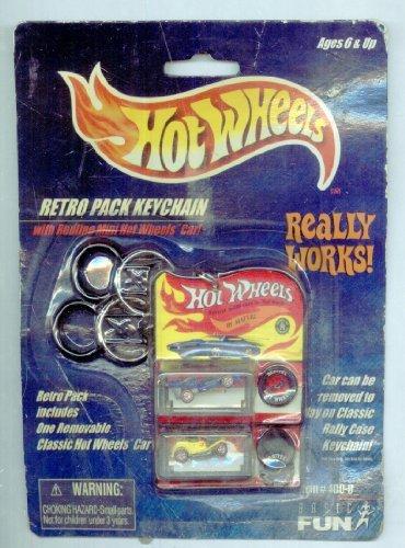ホットウィール マテル ミニカー ホットウイール Hot Wheels 2000 Retro Pack Keychain with Redline Mini Carホットウィール マテル ミニカー ホットウイール