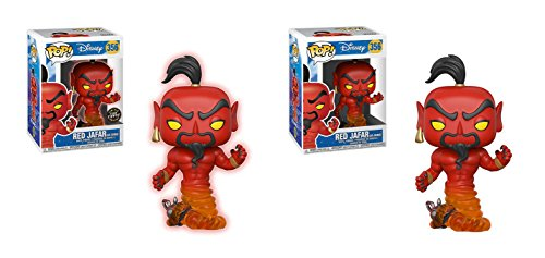 アラジン ジャスミン ディズニープリンセス 【送料無料】Funko POP! Disney Aladdin: Red Jafar as Genie LIMITED EDITION GLOW CHASE and Red Jafar as Genie NON CHASE Toy Action Figure - 2 POP BUNDLEアラジン ジャスミン ディズニープリンセス