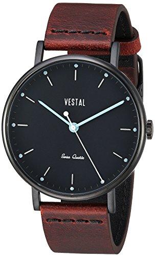 ベスタル ヴェスタル 腕時計 メンズ SP42L07.CVBK 【送料無料】Vestal Sophisticate Leather Stainless Steel Swiss-Quartz Watch with Italian Strap, Brown, 20 (Model: SP42L07.CVBK)ベスタル ヴェスタル 腕時計 メンズ SP42L07.CVBK