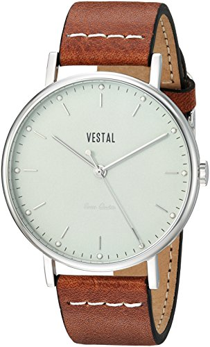 ベスタル ヴェスタル 腕時計 メンズ SP42L06.LBWH 【送料無料】Vestal Sophisticate Leather Stainless Steel Swiss-Quartz Watch with Italian Strap, Brown, 20 (Model: SP42L06.LBWH)ベスタル ヴェスタル 腕時計 メンズ SP42L06.LBWH