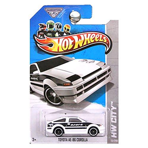 ホットウィール マテル ミニカー ホットウイール 【送料無料】Hot Wheels 2013 HW City Toyota AE-86 AE86 Corolla White and Blackホットウィール マテル ミニカー ホットウイール
