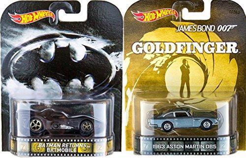 ホットウィール マテル ミニカー ホットウイール 【送料無料】Hot Wheels Goldfinger Batmobile 007 Aston Martin Set Retro Entertainment Batman 2015ホットウィール マテル ミニカー ホットウイール