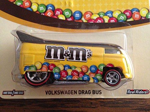 ホットウィール マテル ミニカー ホットウイール 【送料無料】NEW 2014 Hot Wheels Pop Culture M&M's Volkswagen Drag Bus RARE real riders 2014 mattelホットウィール マテル ミニカー ホットウイール