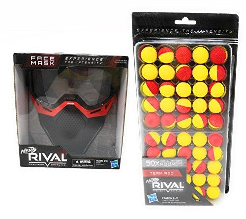 ナーフライバル アメリカ 直輸入 リフィル 銃鉄砲 Nerf Rival Face Mask and 50 Round Refill Pack Bundle, Redナーフライバル アメリカ 直輸入 リフィル 銃鉄砲