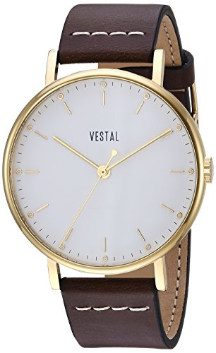 ベスタル ヴェスタル 腕時計 レディース SP42L03.BR Vestal Sophisticate Stainless Steel Swiss-Quartz Watch with Italian Leather Strap, Brown, 20 (Model: SP42L03.BR)ベスタル ヴェスタル 腕時計 レディース SP42L03.BR
