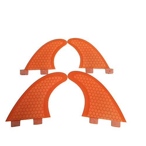 サーフィン フィン マリンスポーツ 【送料無料】UPSURF FCS Quad Fin G3+GL Orange Blue Honeycomb+Fiberglass (Orange)サーフィン フィン マリンスポーツ