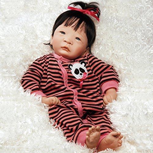 パラダイスギャラリーズ 赤ちゃん リアル 本物そっくり おままごと L210701S Paradise Galleries Realistic Asian Reborn Baby Doll Panda Twin Girl, 17 inch Newborn, GentleTouch Vinyl & パラダイスギャラリーズ 赤ちゃん リアル 本物そっくり おままごと L210701S