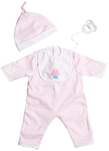ジェーシートイズ 赤ちゃん おままごと ベビー人形 CLO35016Pink 【送料無料】JC Toys Pink Stripe Romper (up to 20