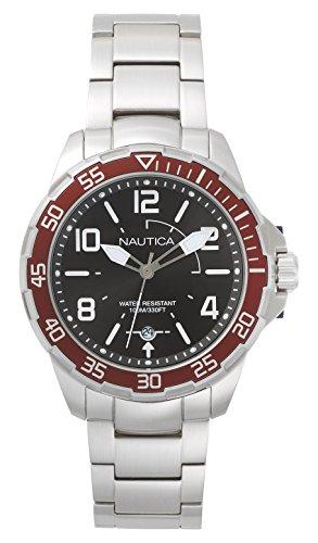ノーティカ 腕時計 メンズ NAPPLH005 Nautica Men's Pilot House Quartz Sport Watch with Stainless-Steel Strap, Grey, 22 (Model: NAPPLH005ノーティカ 腕時計 メンズ NAPPLH005