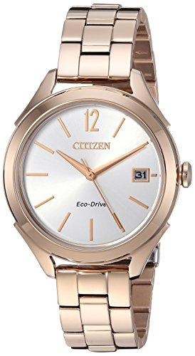 シチズン 逆輸入 海外モデル 海外限定 アメリカ直輸入 FE6143-56A 【送料無料】Citizen Women's 'Drive' Quartz Stainless Steel Casual Watch, Color:Rose Gold-Toned (Model: FE6143-56A)シチズン 逆輸入 海外モデル 海外限定 アメリカ直輸入 FE6143-56A