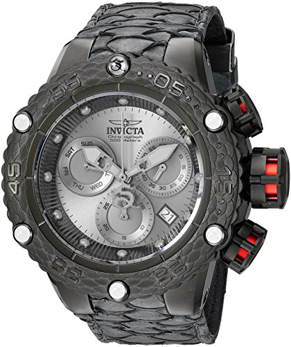 インヴィクタ インビクタ サブアクア 腕時計 メンズ 25070 Invicta Men's Subaqua Stainless Steel Quartz Watch with Leather Calfskin Strap, Black, 27.6 (Model: 25070インヴィクタ インビクタ サブアクア 腕時計 メンズ 25070