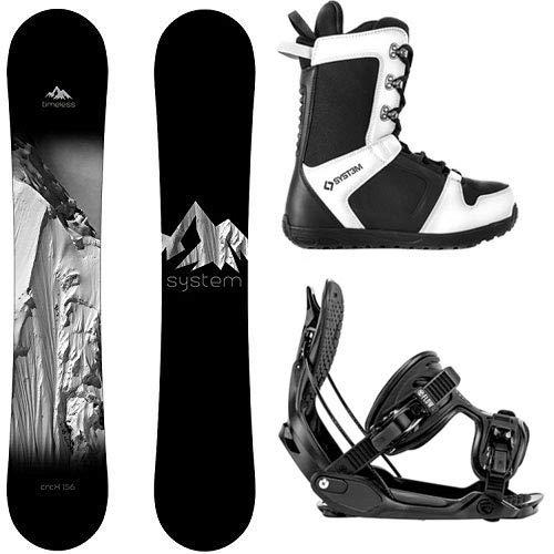 スノーボード ウィンタースポーツ システム 2017年モデル2018年モデル多数 【送料無料】System Package Timeless Snowboard 158 cm Wide-Alpha MTN Large-APX Snowboard Boots Size 9スノーボード ウィンタースポーツ システム 2017年モデル2018年モデル多数