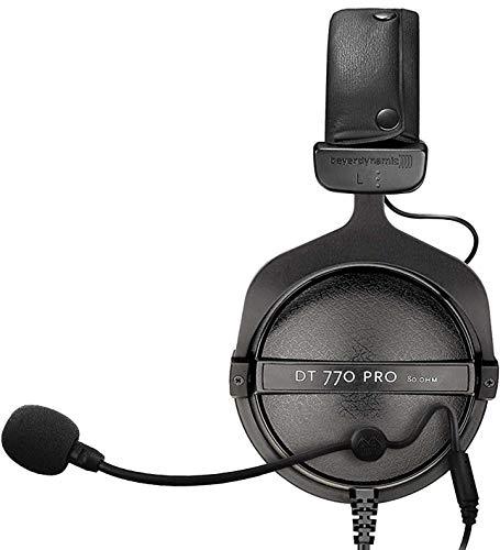 海外輸入ヘッドホン ヘッドフォン イヤホン 海外 輸入 Beyerdynamic DT 770 PRO 80-Ohm Closed Back Studio Mixing Headphones Bundle with Antlion Audio ModMic 4 with Mute Switch and Blucoil Y Splitter for A海外輸入ヘッドホン ヘッドフォン イヤホン 海外 輸入