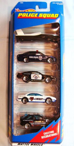 ホットウィール マテル ミニカー ホットウイール Hot Wheels Police Squad 5 Car Gift Pack 1:64 Scale Collectible Die Cast Carsホットウィール マテル ミニカー ホットウイール