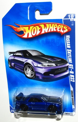 ホットウィール マテル ミニカー ホットウイール 【送料無料】Hot Wheels 2009-156 Dream Garage BLUE 2001 Nissan Skyline GT-R R32 1:64 Scaleホットウィール マテル ミニカー ホットウイール