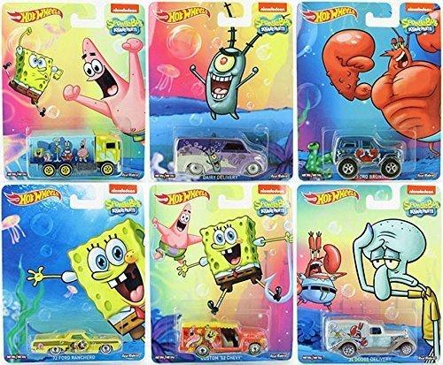 ホットウィール マテル ミニカー ホットウイール SpongeBob Square Pants Pop Culture set 2015 with Mr. Krabs, Squidward, Patrick & Plankton Hot Wheelsホットウィール マテル ミニカー ホットウイール