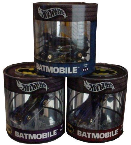 ホットウィール マテル ミニカー ホットウイール Batmobile Batman Collection of all 3 Batmobiles Hot Wheels Limited Edition Oil Can 1:64 Scale Die Cast Car Setホットウィール マテル ミニカー ホットウイール Batmobile