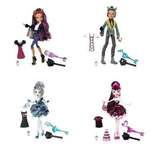 モンスターハイ 人形 ドール Monster High Sweet 1600 Complete Set Draculaura, Clawdeen Wolf, Clawd Wolf, Frankie Steinモンスターハイ 人形 ドール