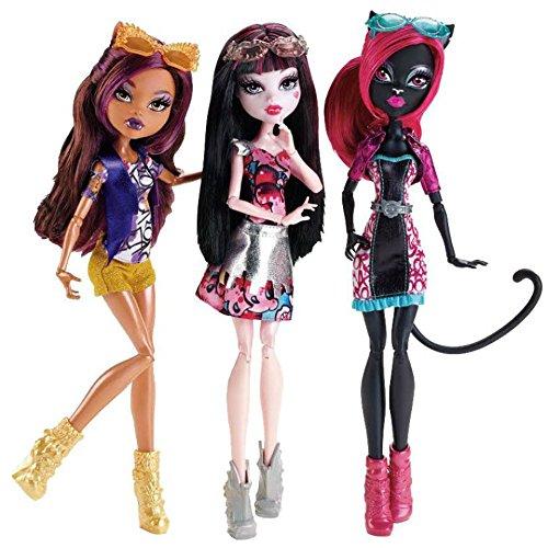 モンスターハイ 人形 ドール Monster High Boo York Out of Tombers Dolls 3 Pack Catty Noir, Draculaura and Clawdeen Wolfモンスターハイ 人形 ドール