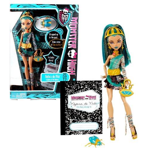 モンスターハイ 人形 ドール W9115 【送料無料】Monster High Mattel Year 2011 Diary Series 11 Inch Doll - Nefera de Nile Daughter of The Mummy with Purse, Pet Azura The Scarab, Hairbrush, Diary and Doll Stand (W911モンスターハイ 人形 ドール W9115