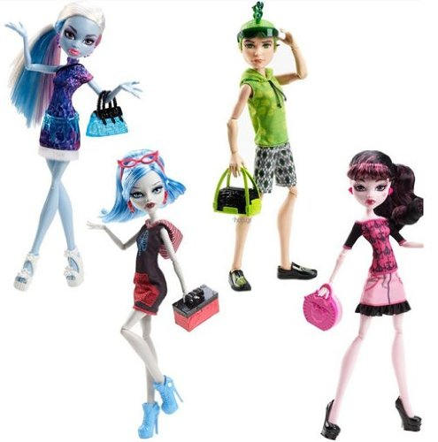 モンスターハイ 人形 ドール Model 4pcs/lot, original Monster High dolls/scaris city of frights,Ghoulia Yelps,Draculaura,Abbey Bominable,Deuce gorgon/gift for girlモンスターハイ 人形 ドール