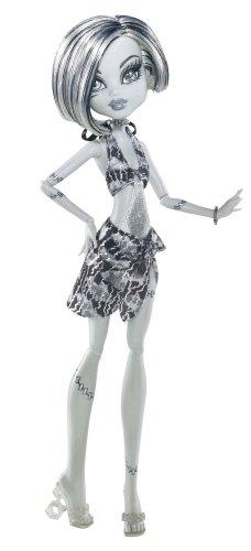 モンスターハイ 人形 ドール X0593 【送料無料】Monster High Skull Shores Black and White Frankie Stein Dollモンスターハイ 人形 ドール X0593