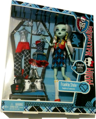 モンスターハイ 人形 ドール X4491 【送料無料】Monster High Exclusive Frankie Stein I Love Fashion Doll and 3 Outfit Setモンスターハイ 人形 ドール X4491