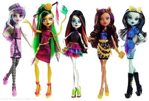 モンスターハイ 人形 ドール 【送料無料】Monster High Scaris City of Fright Complete Set of 5 Fashion Dolls: Skelita Calaveras, Jinafire Long, Clawdeen Wolf, Frankie Stein, Rochelle Goyleモンスターハイ 人形 ドール