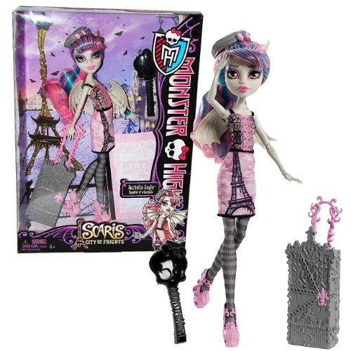 モンスターハイ 人形 ドール 【送料無料】Monster High Mattel Year 2012 Scaris City of Frights Deluxe Series 11 Inch Doll Set - Rochelle GOYLE Daughter of a Gargoyle with Rolling Suitcase, Beret Hat, Hairbrush and Doll Sモンスターハイ 人形 ドール