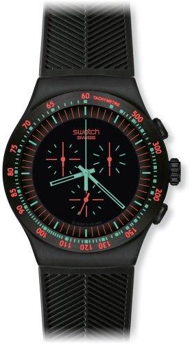 スウォッチ 腕時計 メンズ YOB105 Swatch Men's YOB105 Stainless Steel Black Dial Chronograph Watchスウォッチ 腕時計 メンズ YOB105
