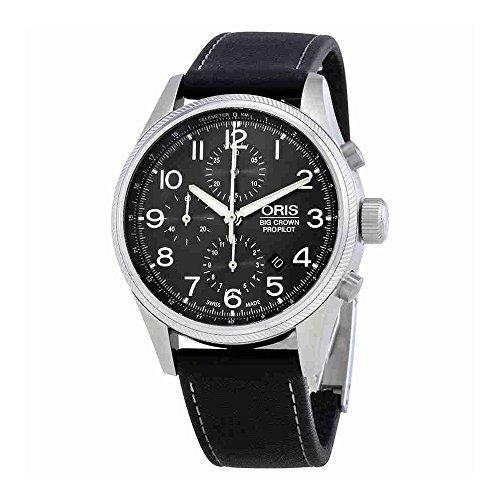 オリス 腕時計 メンズ Oris Big Crown ProPilot Grey Dial Leather Strap Men's Watch 77476994063LSBLKオリス 腕時計 メンズ