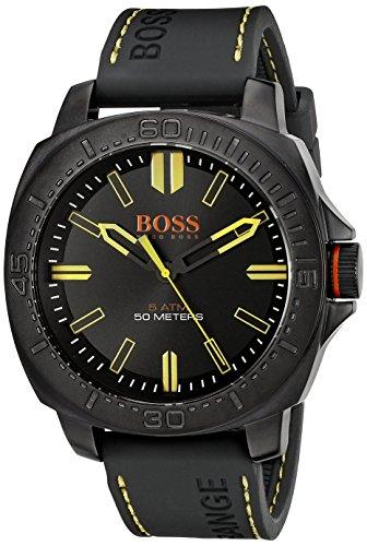 ヒューゴボス 高級腕時計 メンズ 1513249 BOSS Orange Men's 1513249 SAO PAULO Black Stainless Steel Watch with Silicone Bandヒューゴボス 高級腕時計 メンズ 1513249