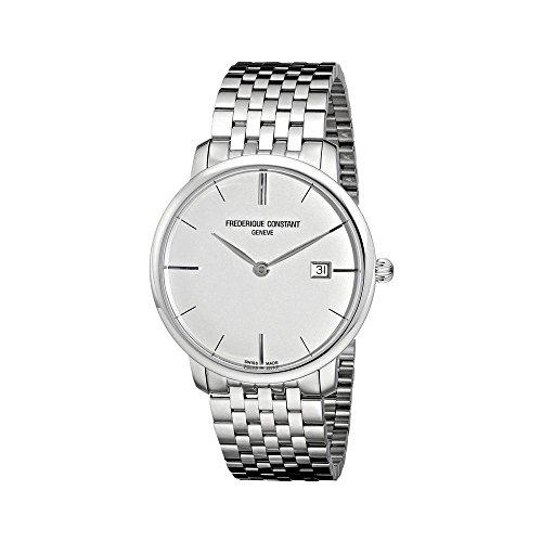 【特別セール品】 腕時計 フレデリックコンスタント メンズ 【送料無料】Frederique Constant 306S4S6B Men's Slimline Silver Dial Steel Bracelet Automatic Watch腕時計 フレデリックコンスタント メンズ, Pandoor 3070c7a1