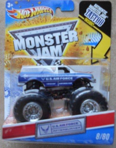 ホットウィール マテル ミニカー ホットウイール 【送料無料】Hot Wheels Monster Jam 2011 Tattoo Series 1:64 Scale (Small Truck) U.S. Air Force Afterburner #8/80 by Mattelホットウィール マテル ミニカー ホットウイール