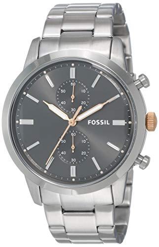 フォッシル 腕時計 メンズ FS5407 Fossil Men's Townsman Quartz Watch with Stainless-Steel Strap, Silver, 10 (Model: FS5407)フォッシル 腕時計 メンズ FS5407