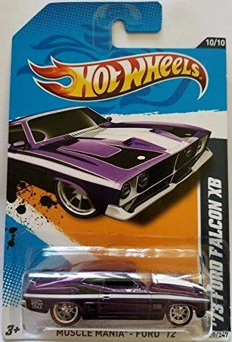 ホットウィール マテル ミニカー ホットウイール 【送料無料】Hot Wheels 73 Ford Falcon XB Spectraflame Purple Super Treasure Hunt 2012 Muscle Mania Ford Card 120ホットウィール マテル ミニカー ホットウイール