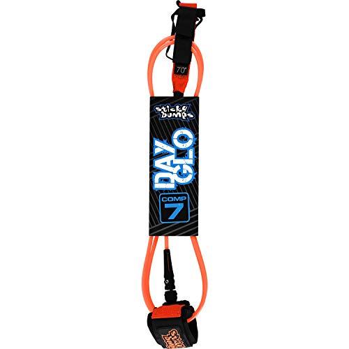 サーフィン リーシュコード マリンスポーツ Sticky Bumps Day-Glo Comp Orange Surfboard Leash - 7'サーフィン リーシュコード マリンスポーツ