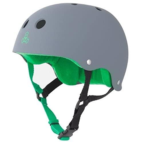 ヘルメット スケボー スケートボード 海外モデル 直輸入 1079 Triple 8 Sweatsaver Liner Skateboarding Helmet, Carbon Rubber, XLヘルメット スケボー スケートボード 海外モデル 直輸入 1079