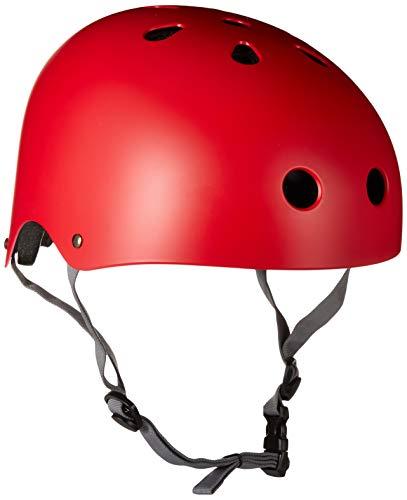 ヘルメット スケボー スケートボード 海外モデル 直輸入 KRHEL-RDGY 【送料無料】Krown Red Shell with Gray Strap Skateboard Helmet, One Sizeヘルメット スケボー スケートボード 海外モデル 直輸入 KRHEL-RDGY