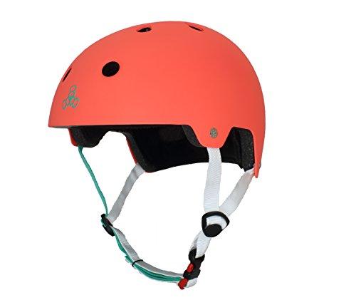 ヘルメット スケボー スケートボード 海外モデル 直輸入 3068 Triple Eight Dual Certified Multi-Sport Helmet, Neon Tangerine Matte, Large / X-Largeヘルメット スケボー スケートボード 海外モデル 直輸入 3068