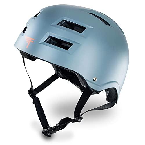 ヘルメット スケボー スケートボード 海外モデル 直輸入 Flybar Dual Certified CPSC Multi Sport Kids & Adult Bike And Skateboard Adjustable Dial Helmet,Grey,S/Mヘルメット スケボー スケートボード 海外モデル 直輸入