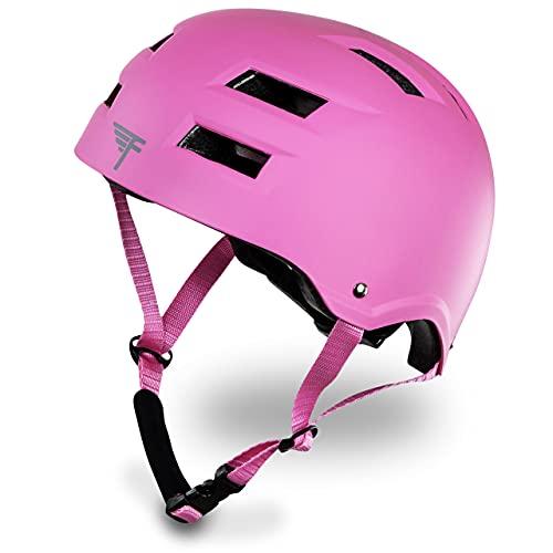ヘルメット スケボー スケートボード 海外モデル 直輸入 Flybar Dual Certified CPSC Multi Sport Kids & Adult Bike And Skateboard Adjustable Dial Helmet,Pink,M-Lヘルメット スケボー スケートボード 海外モデル 直輸入