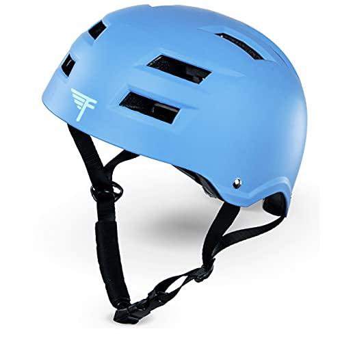 ヘルメット スケボー スケートボード 海外モデル 直輸入 Flybar Dual Certified CPSC Multi Sport Kids & Adult Bike And Skateboard Adjustable Dial Helmet ? True Blue, M/Lヘルメット スケボー スケートボード 海外モデル 直輸入
