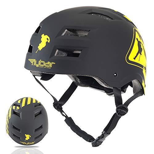 ヘルメット スケボー スケートボード 海外モデル 直輸入 【送料無料】Flybar Dual Certified CPSC Multi Sport Kids & Adult Bike And Skateboard Adjustable Dial Helmet,Warning,L-XLヘルメット スケボー スケートボード 海外モデル 直輸入