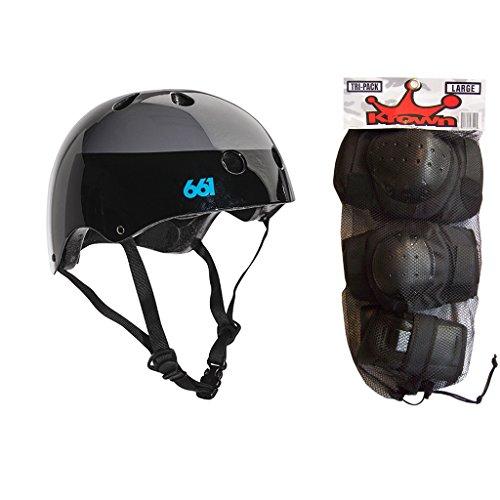 ヘルメット スケボー スケートボード 海外モデル 直輸入 SixSixOne 661 Dirt Lid Skateboard BMX Youth Helmet Black L/XL Knee Elbow Wrist Padsヘルメット スケボー スケートボード 海外モデル 直輸入