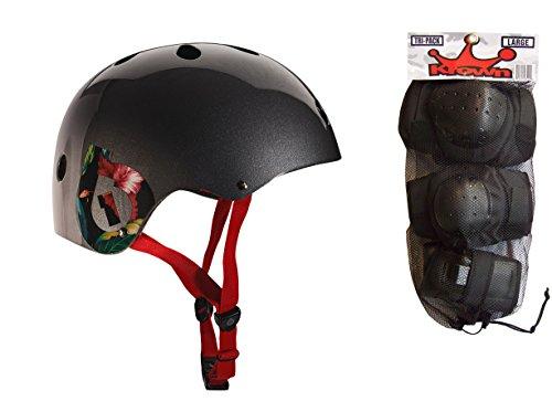 ヘルメット スケボー スケートボード 海外モデル 直輸入 661 Dirt Lid Plus Skate BMX Helmet Grey CPSC with Knee Elbow Wrist Pads Largeヘルメット スケボー スケートボード 海外モデル 直輸入
