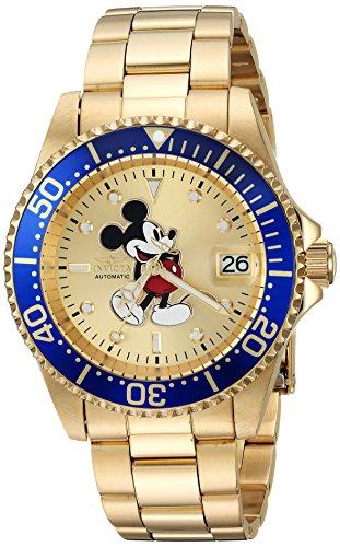 インヴィクタ インビクタ 腕時計 メンズ ディズニー 25106 Invicta Men's Disney Limited Edition Automatic-self-Wind Watch with Stainless-Steel Strap, Gold, 20 (Model: 25106)インヴィクタ インビクタ 腕時計 メンズ ディズニー 25106