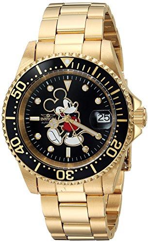 インヴィクタ インビクタ 腕時計 メンズ ディズニー 25107 Invicta Men's Disney Limited Edition Automatic-self-Wind Watch with Stainless-Steel Strap, Gold, 20 (Model: 25107)インヴィクタ インビクタ 腕時計 メンズ ディズニー 25107